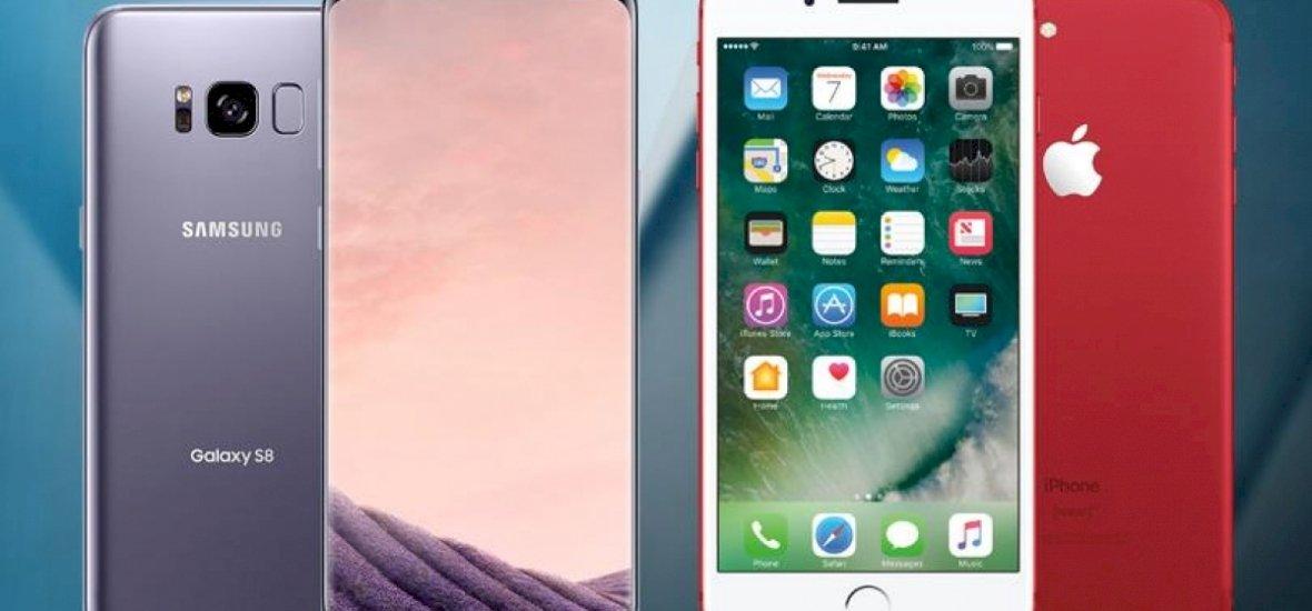 Galaxy S8 vs. iPhone 7