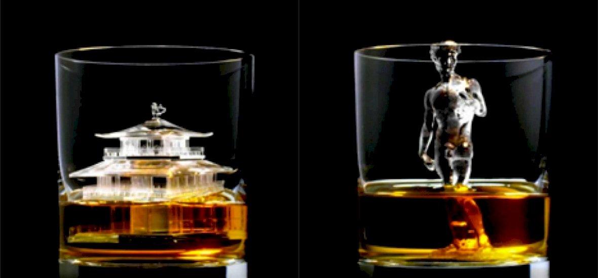 CNC-vel esztergált jégkockákkal nyomul a japán whisky