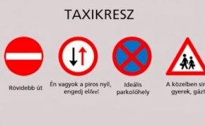 Így értelmezik a taxisok a KRESZ-t