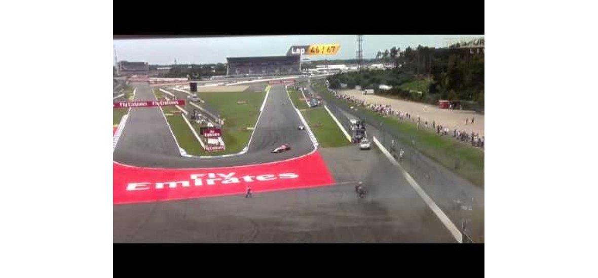 Majdnem bennégett autójában a Toro Rosso pilótája a Német Nagydíjon