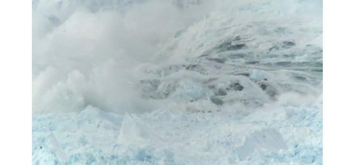 Lefilmezték minden idők legnagyobb gleccserszakadását