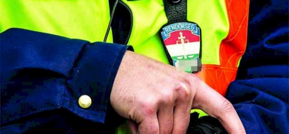 Testkamera a magyar rendőrökön