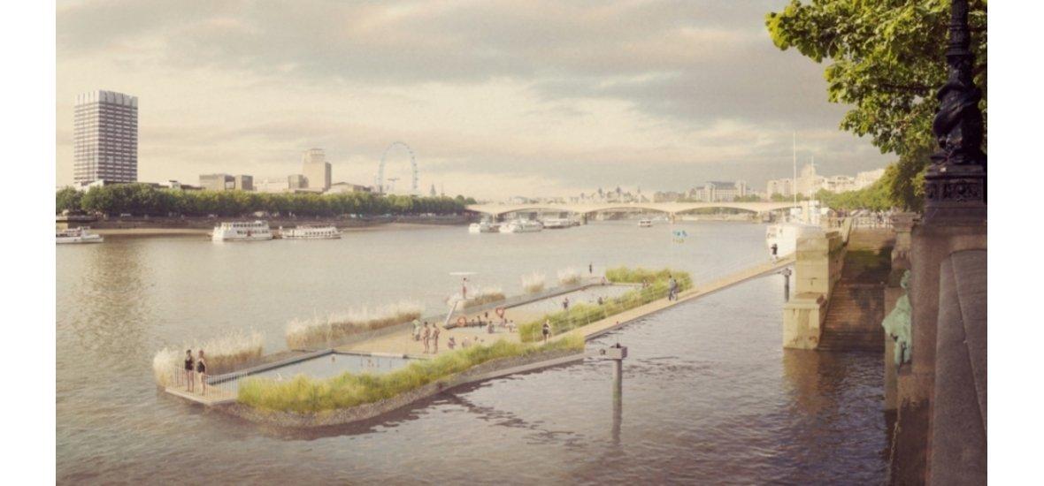 Úszómedence épülhet a Temzében