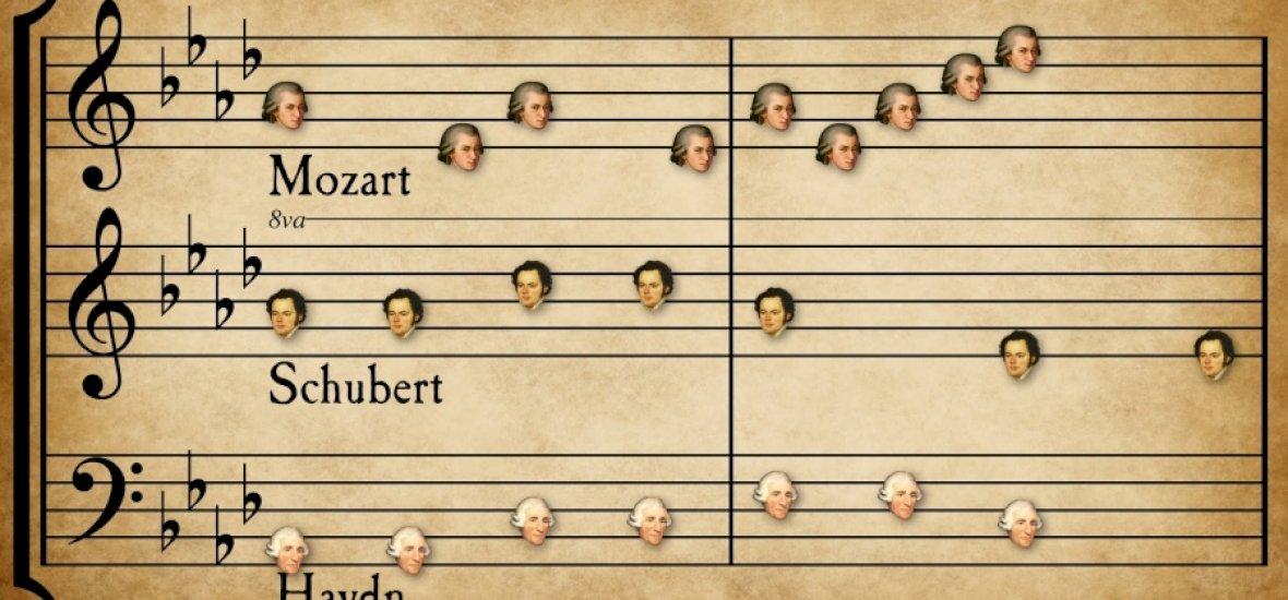 Ilyen lenne, ha a világ 33 leghíresebb klasszikus zeneszerzője együtt írna egy darabot