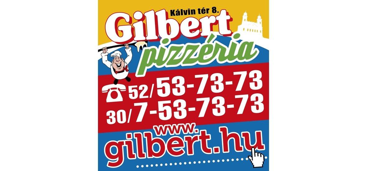 A megoldás a GILBERT PIZZÉRIA!