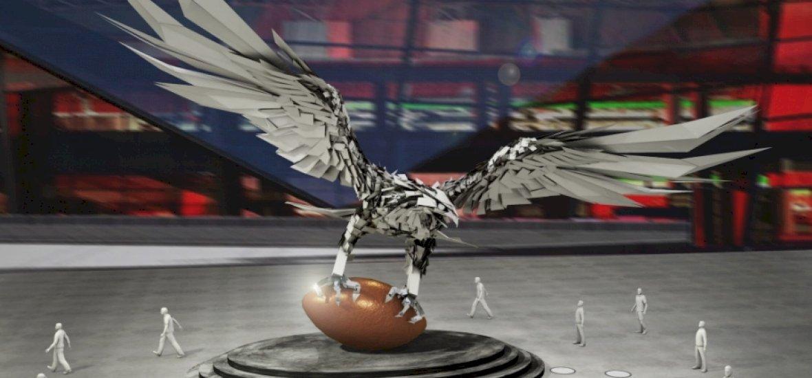Magyar képzőművész építi az Atlanta Falcons sólyomszobrát