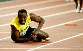 Usain Bolt pont utolsó futását nem tudta befejezni