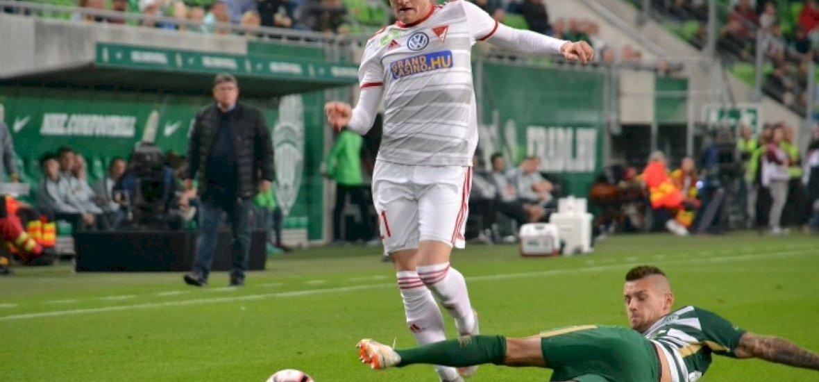 Kétszer vezetett a DVSC, ám a Ferencváros emberhátrányban pontot mentett