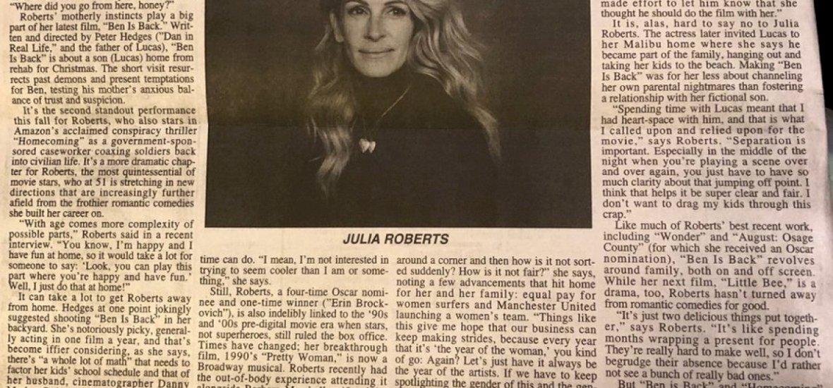 Az év hozzászólása: Julia Roberts volt az ihlető