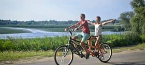 2018-ban többen bicikliztek a Tisza-tónál, mint valaha
