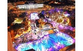 Jégvarázs Bécsben: kétszintes korcsolyapályán csodálhatjuk a várost