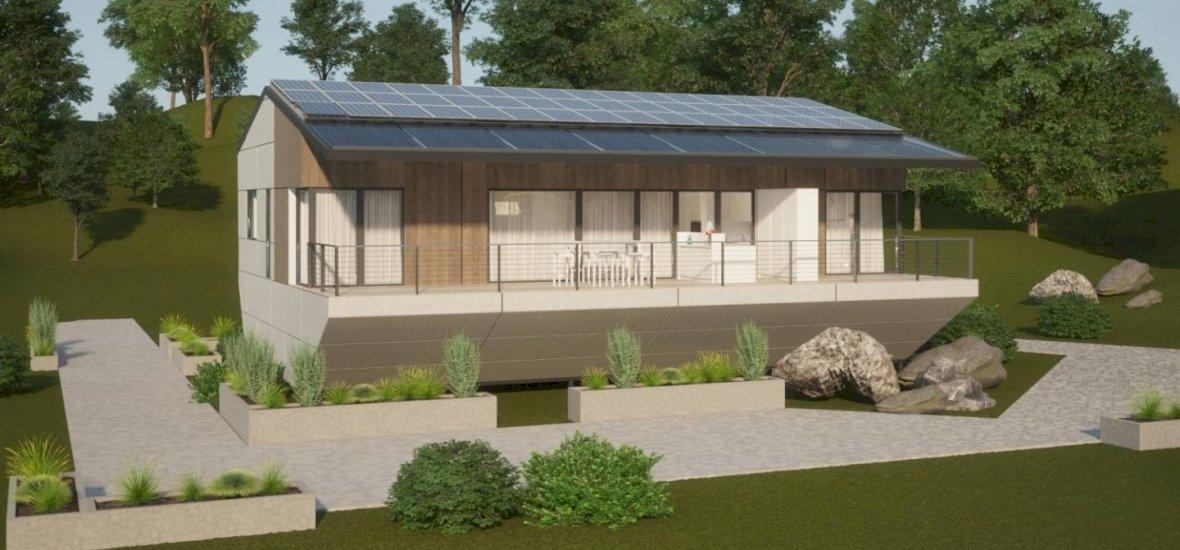 Íme a ház, ahol az esővízzel húzzuk le a wc-t, s napelemmel fűtünk
