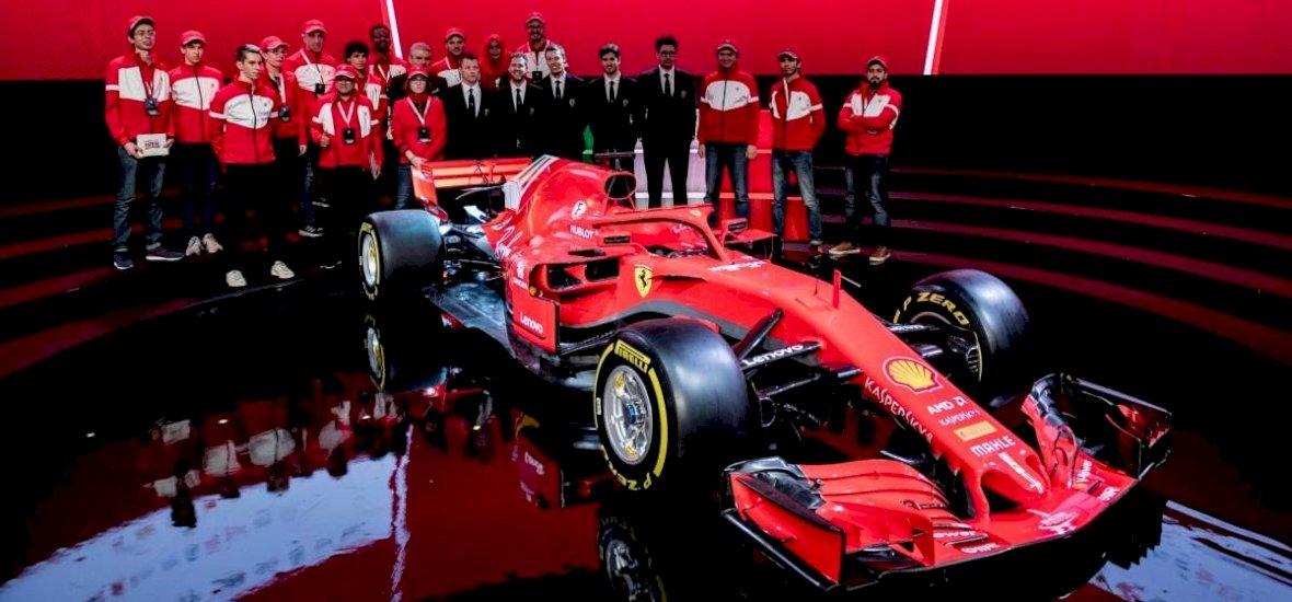 Csillog-villog, s némileg agresszívebb külsejű a Ferrari új versenygépe