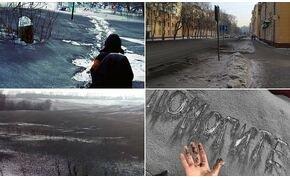 Fekete hó hullott Szibériában, nem először, és nem utoljára