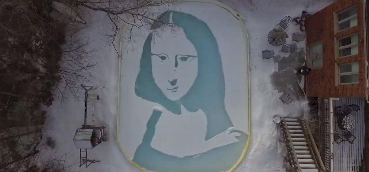 Kotort már Mona Lisát hóba?