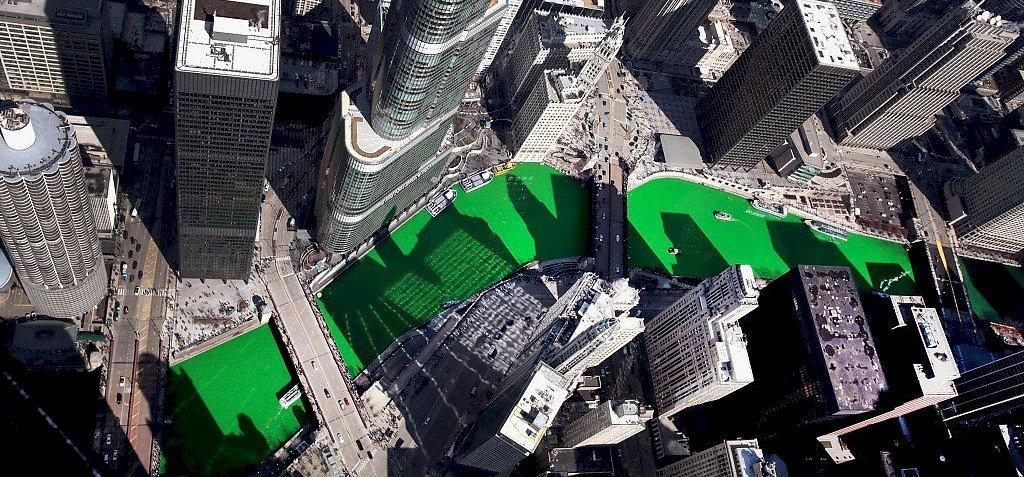 Chicagóban ma sem felejtették el zöldre festeni a folyót