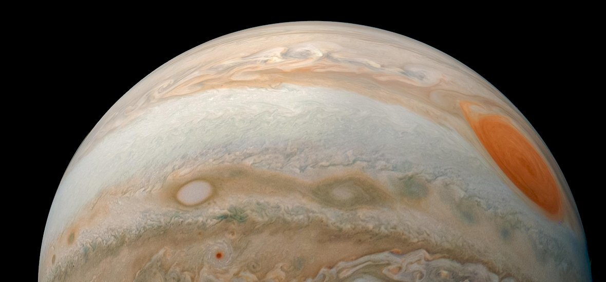 Látványos kép készült a Jupiter viharairól