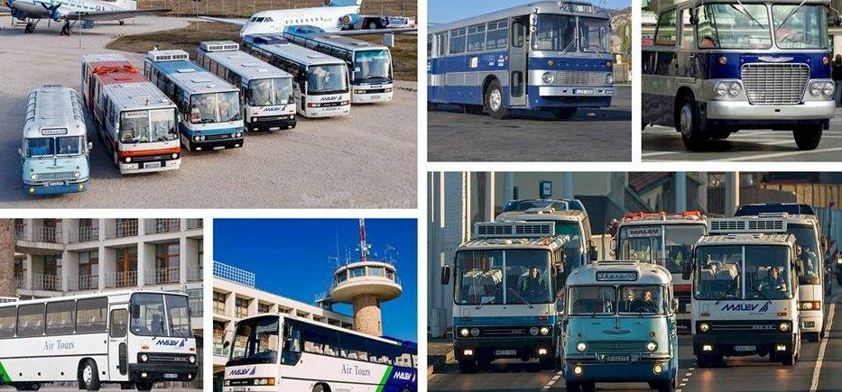 Korábban nem látott Ikarus buszok gördülnek elő Ferihegyen