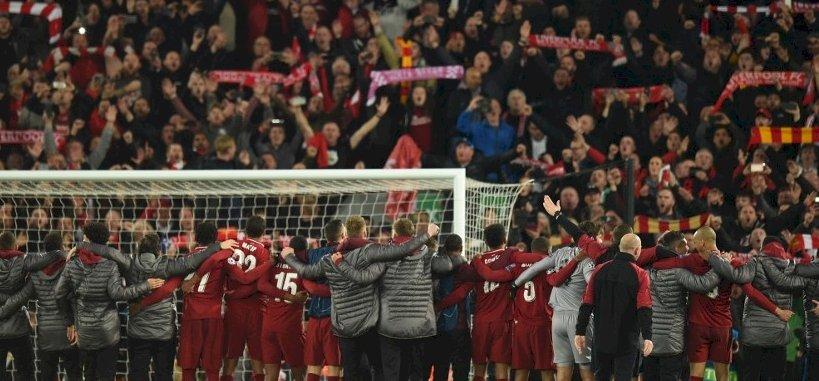 Könnyek és eksztázis az Anfield Roadon a Barca legyőzése után