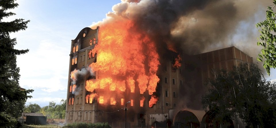 Így égett le Magyarország második legnagyobb malma