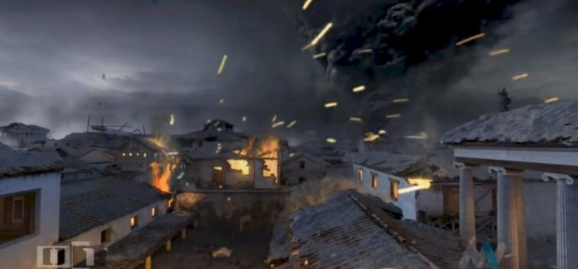 Pompei pusztulása még videós animáción is hátborzongató