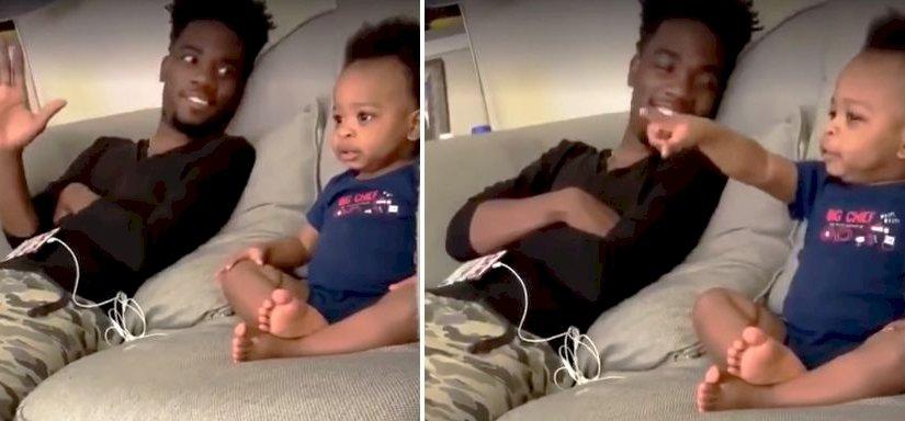 Vírusként terjed a videó, amelyen egy apuka 19 hónapos gyerekével beszélget