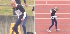 Élmény nézni a 102 éves sprinter száguldását