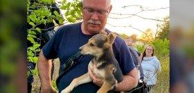 Egy tűzoltó kimentett egy kiskutyát a romok alól, majd rájött, nem tud nélküle élni