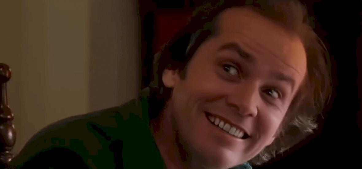 Jack Nicholson arcát kicserélték Jim Carrey-re a Ragyogásban