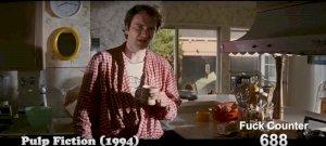 Egy rajongó elkészítette a Tarantino-filmek fuck-számlálóját