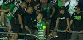 Elbeszélgettek a Fradi csapatkapitányával a szurkolók a felcsúti vereség után