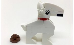 Legóból épített kerekesszéket a lábak nélkül született kutyának – videó