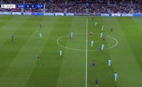 """Íme a Barcelona taktikai """"újítása"""" a Slavia Praha ellen"""