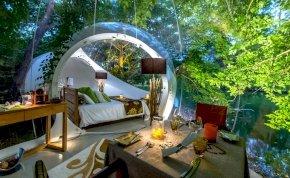Egy átlátszó buborékban az erdő közepén – gigaötletes luxushotelek a nagyvilágból