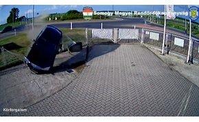 Somogy megyében is elszállt egy részeg a körforgalomnál – videó