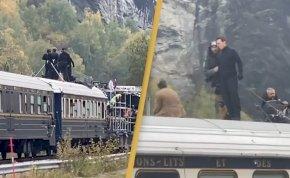 Autóval haladtak az úton, majd Tom Cruise egy vonat tetejéről integetett nekik – videó
