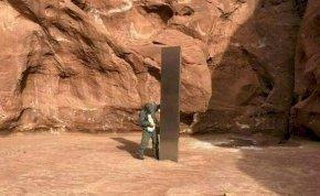 Eltűnt a világot izgalomban tartó, rejtélyes sivatagi fémoszlop