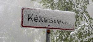 Havazott a Kékestetőn, pár centis hóréteg fedi a tájat – videó
