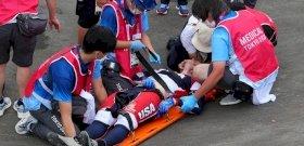 Ez az olimpiai legbrutálisabb versenye, ahol egymás után két horrorbaleset is bekövetkezett - videó