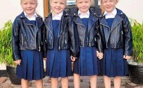 Felér egy hadművelettel a négyes ikreket iskolába küldeni