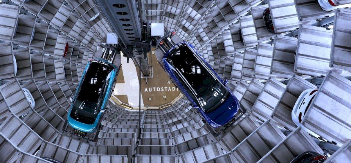 Parkoló torony Autostadtban (ID.3 és ID.4)