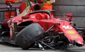 Drámai képek: csúnya baleset után Leclerc szerezte meg a pole pozíciót a Forma-1 monacói időmérőjén - galéria