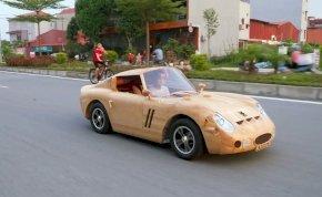 Egy asztalos épített magának egy működő Ferrari 250 GTO-t fából