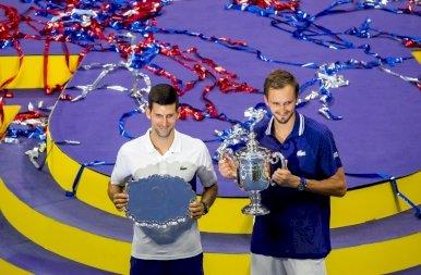 Hiába törte darabokra az ütőt Djokovic, Daniil Medvedev nyerte a US Open fináléját – galéria